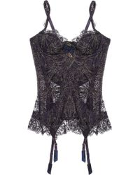 Agent Provocateur Cordeliyah Embroidered Lace Basque - Lyst