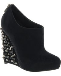 Asos Asos Tiger Studded Wedge Shoe Boots - Lyst