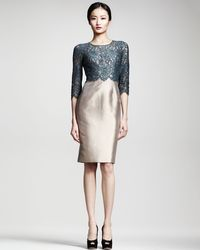Dolce & Gabbana Lace Mikado Sheath Dress - Lyst