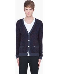 Marc By Marc Jacobs Blue Camo Cardigan - Lyst