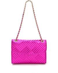 Rebecca Minkoff Metallic Quilted Affair Bag purple - Lyst