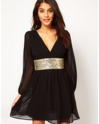 ASOS Collection Asos Skater Dress with Sequin Band - Lyst