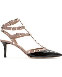 Valentino So Noir Leather Sandals - Lyst