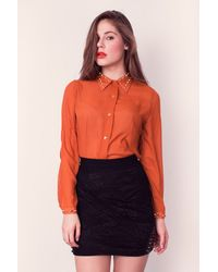 Charlotte Rouge Sheer Shirt - Lyst