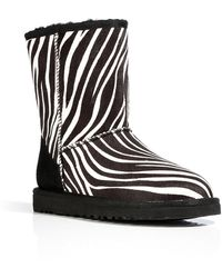 Ugg Zebra Classic Short Exotic Boots - Lyst