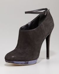B Brian Atwood Snakesole Ankle Bootie - Lyst