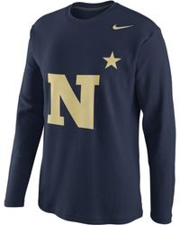 Nike Navy Midshipmen Thermal Shirt - Lyst