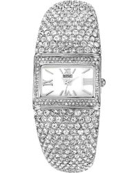 Badgley Mischka | Square Crystal Bangle Watch | Lyst