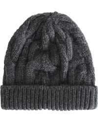 Barneys New York Cable Knit Skull Cap - Lyst