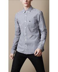Burberry Brit - Buttondown Gingham Shirt - Lyst