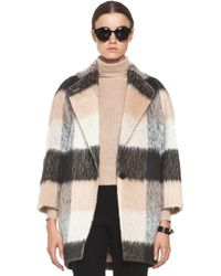 Chloé Check Mohair Coat in Multi - Lyst
