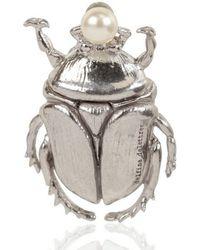 Delfina Delettrez - Cockroach Silver Brooch - Lyst