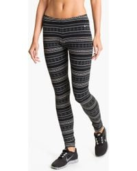 Nike Fair Isle Leggings white - Lyst
