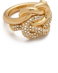 Rachel Zoe - Love Me Knot Ring - Lyst