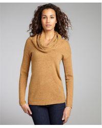 Autumn Cashmere Cinnamon Cashmere Cable Knit Cowl Neck Sweater - Lyst