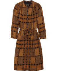 Burberry Brit - Printed Cotton and Silk-blend Dress - Lyst