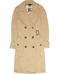 Burberry Brit - Asymmetric Buckle Cotton-twill Trench Coat - Lyst