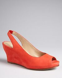 Eileen Fisher Peep Toe Pumps Crescent Wedge - Lyst