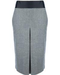 Giuliano Fujiwara - High Waisted Pencil Skirt - Lyst