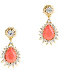 J.Crew Jewel Teardrop Earrings - Lyst