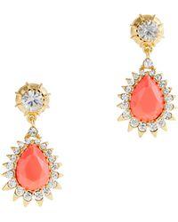 J.Crew Jewel Teardrop Earrings pink - Lyst