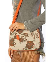 Nixon The Fleet Low Slung Hobo Bag in Floral Canvas - Lyst