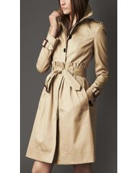 Burberry Tuck Waist Trench Coat - Lyst