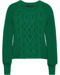 Marc By Marc Jacobs Uma Cableknit Merino Wool Sweater - Lyst
