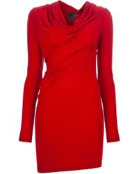 Donna Karan New York Cowl Neck Dress - Lyst