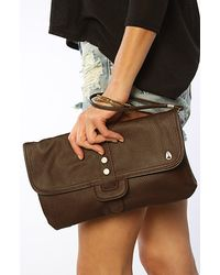 Nixon The Amplify Clutch in Chocolate - Lyst