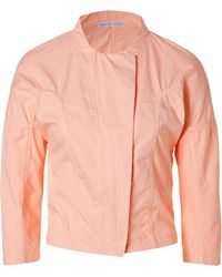 See By Chloé Peach Cotton Jacket - Lyst