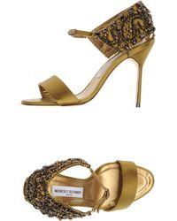 Manolo Blahnik Highheeled Sandals - Lyst