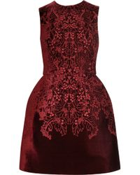 McQ by Alexander McQueen The Broderie Anglaise Velvet Bell Dress - Lyst