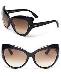 Tom Ford Bardot Sunglasses black - Lyst