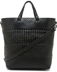 Bottega Veneta Intreccio Imperatore Tote Bag in Nero - Lyst