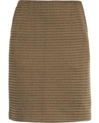 Jonathan Saunders Vanessa Mesh Knit Skirt - Lyst