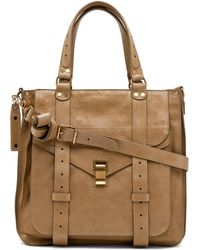 Proenza Schouler Ps1 Tote Leather in Bronze - Lyst