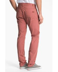 7 For All Mankind The Straight Straight Leg Jeans Carnelian Red - Lyst