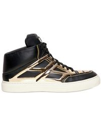 Alejandro Ingelmo - Gold Mirror Leather High Top Trainers - Lyst