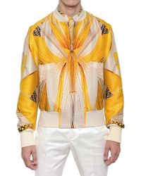 Alexander McQueen Dragonfly Wool Silk Bomber Jacket - Lyst