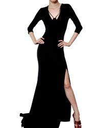 Antonio Berardi Rayon Jersey Long Dress - Lyst