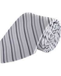 Barneys New York Narrow Diagonal Stripe Tie - Lyst