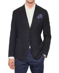 Boglioli Cotton Linen Blend Deconstructed Jacket - Lyst