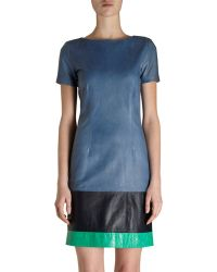 Boy by Band of Outsiders Tri-color Leather Dress - Lyst