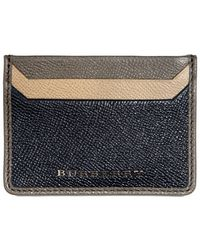Burberry Metal Logo Credit Card Holder Wallet - Lyst