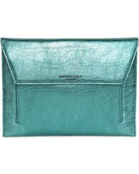 Burberry Prorsum Soft Grainy Metallic Leather Ipad Case - Lyst