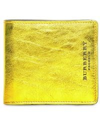 Burberry Prorsum Soft Grainy Metallic Leather Wallet - Lyst