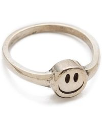 Cast Of Vices - Happy Face Ring - Lyst