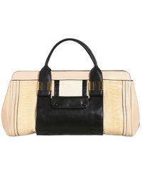 Chloé Medium Alice Ostrich Leather Bag - Lyst