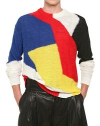 Damir Doma Multicolor Intarsia Cotton Knit Sweater - Lyst